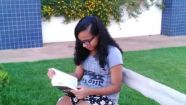 Caroline Ayane dos S. Regis é aluna do 9ºB da Escola Monteiro Lobato | Foto: Arquivo Pessoal